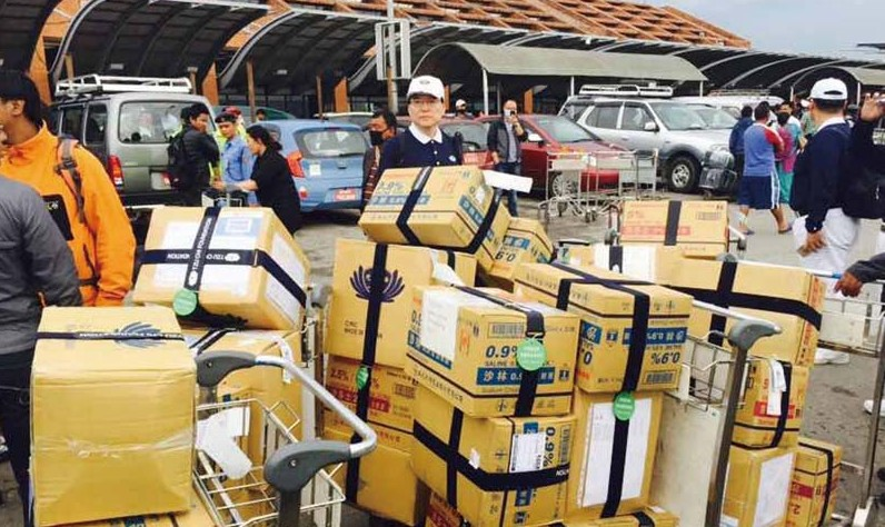 Tzu Chi volunteers arrive in Kathmandu with relief supplies to aid victims of a severe earthquake in Nepal this past April.