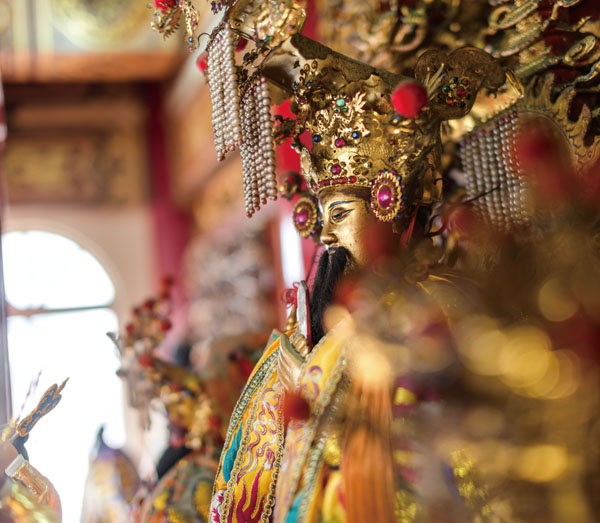 The effigy of the City God at Cheng Huang Temple. (Photo: Rich Matheson)