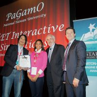 Benson Yeh, left, received Overall Winner at the 2014 Reimagining Education Awards for his innovative educational game PaGamO. (Photo: PaGamO)