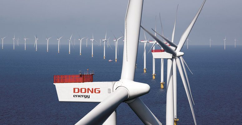 An offshore wind farm in Euyrope (Photo: Dong Energy)