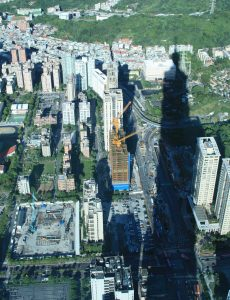 View from Taipei 101 summer 2010 shows several major construction projects underway Photo: Lord Koxinga