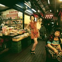 To emphasize his local roots, Lu Xue Zheng arranged to hold the photo shoot for one of his new collections inside a traditional market. (Photo: Karren Kao)