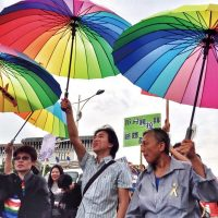 The 2015 Gay Pride Parade brightens up Taipei's Ketagalan Boulevard (Photo: CNA)